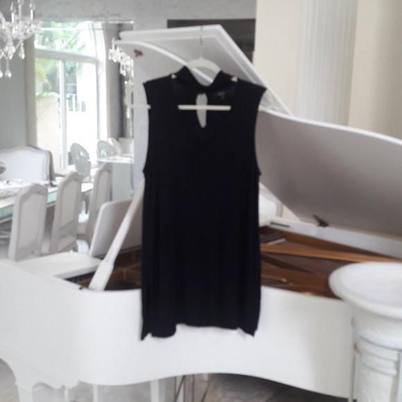 Black tunic blouse, size large